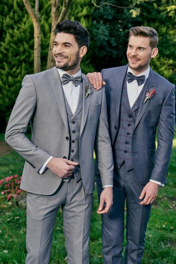 Manzetti kékesszürke esküvői öltöny 3562-02 (jobb oldal)