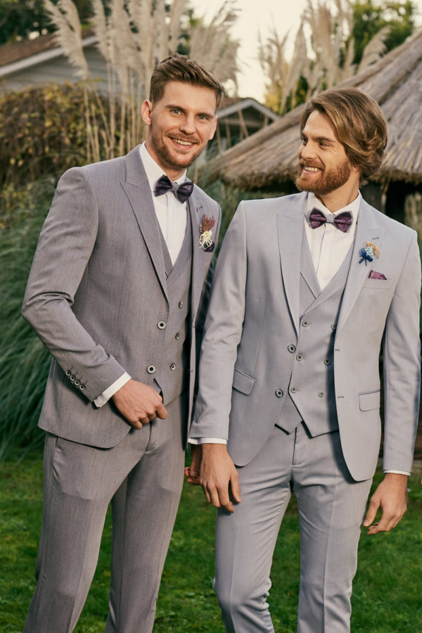 Manzetti szürke esküvői öltöny 3483-02 (bal oldal)